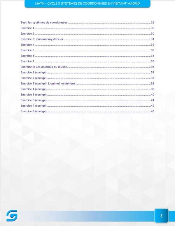 Systèmes de coordonnées Table des matières2
